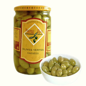 Cracked Green Olive