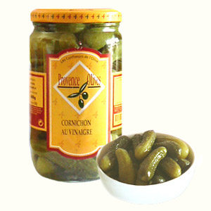 Gherkins in Vinegar Olive