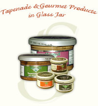 Tapenade & Gourmet Products in Glass Jar