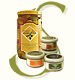 Glass Jars & Condiments Olive